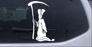 Grim Reaper Decal Car Or Truck Window Decal Sticker Rad Dezigns