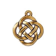 20mm tierracast celtic knot pendant