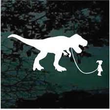 Boy Walking Dinosaur Decals Car Window Stickers Decal Junky