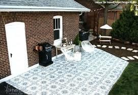 painting concrete patio ideas outdoor