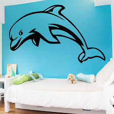 Romantic Dolphin Wall Art Decal Wall Sticker Mural For Kids Rooms Waterproof Wall Art Decal Wall Stickers Aliexpress