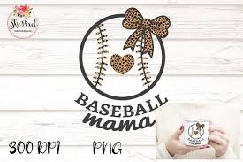 Baseball Mama Mom Leopard Clipart Graphic By Sublimation Hut Creative Fabrica