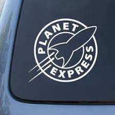 Amazon Com Planet Express Futurama Vinyl Decal Sticker A1458 Vinyl Color White Automotive Car Decals Stickers Cat Decal Stickers Car Decals Vinyl