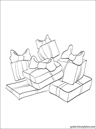 Kerstmis Cadeau Kleurplaat Gratis Kleurplaten