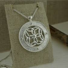 father and daughter celtic knot pendant