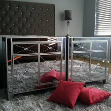 mirrored nightstands from homegoods