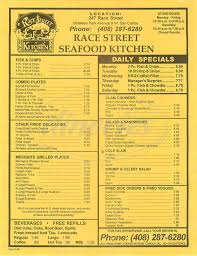 Race Street Seafood Kitchen Menu - San ...