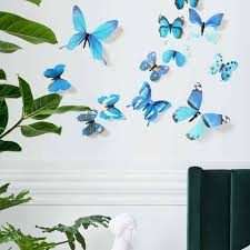 12pcs Set Pvc 3d Butterfly Wall Sticker Labels Kids Room Decor Wall Decals Magnet Window Fridge Stickers Wallpaper Home Decor Wall Stickers Aliexpress