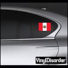 Peru 2 Flag Sticker Car Or Wall Vinyl Decal Wall Stickers Quotes Baby Decals Wall Decals