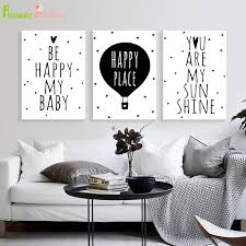 Kids Room Be Happy Nordic Poster Cute Baby Room Decor Posters Prints Wall Art Canvas Painting Cartoon Picture Nursery Unframed Buy At The Price Of 3 00 In Aliexpress Com Imall Com