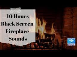 fireplace sound on black screen