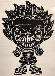 Vinyl Sticker Inspired By Funko Pop Pennywise With Teeth 473