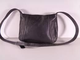 coach black leather shoulder purse