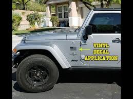 Jeep Wrangler Vinyl Decal Application American Flags Youtube
