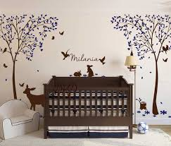 Trees Wall Decal Nursery Wall Decal Deer Decals Personalized Etsy