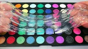 mixing nyx makeup into clear slime