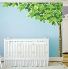 Tree Corner Nursery Sticker Green Leaves Tree Wall Decal On Luulla
