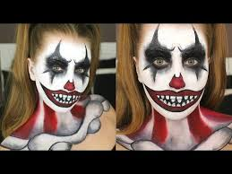 scary clown halloween makeup ideas