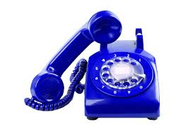 Blue Telephone transparent background ~ Free Png Images