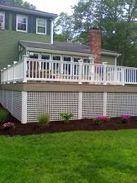 How Vinyl Lattice Can Be Used Deck Skirting Diy Deck Building A Deck