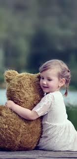 خلفيات ايفون بنات Hd Teddy Bear Girl