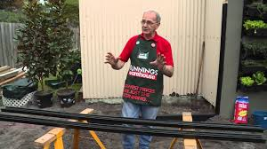 How To Set Out Posts For A Colorbond Fence Diy At Bunnings Youtube