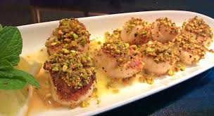 Pistachio & Mint-Crusted Scallops with ...