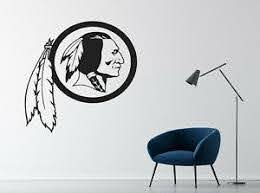 Nfl Washington Redskins Wall Decal Art Football Room Sport Sticker Design Oct24 Ebay