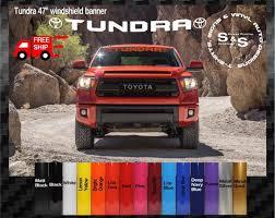 Toyota Tundra Windshield Logo Text Banner Vinyl Decal Sticker Etsy