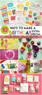 ideas to make a birthday extra special