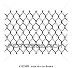 Chain Link Fence Clipart K2653662 Fotosearch
