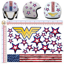 Wonder Woman Motorcycle Helmet Stickers Cut Out Around The Etsy