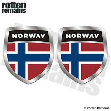 Map Of Norway Norge Car Decal Sticker Rainbowlands Lk
