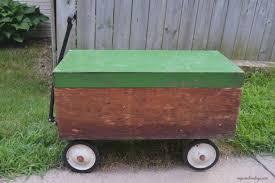 diy wagon made from a wood box my