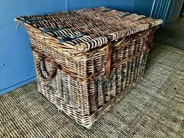 large antique coffee table wicker