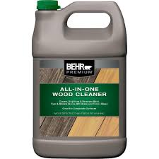 Behr Premium 1 Gal All In One Wood And Deck Cleaner 06301n The Home Depot