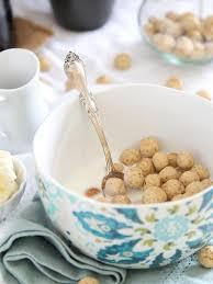 homemade cereal puffs vanilla almond