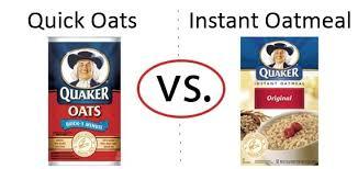 nutrition faceoff quaker quick oats vs