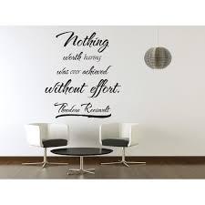 Vinyl Wall Art Theodore Roosevelt Quote Sticker Decal Decor Inspirational J14 Walmart Com Walmart Com
