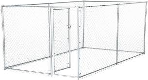 Amazon Com Lucky Dog 41028ez 10 X 5 X 4 Heavy Duty Outdoor Galvanized Chain Link Dog Kennel Enclosure Pet Supplies