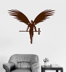 Vinyl Wall Decal Angel Warrior Fantasy Myth Art Kids Room Stickers Uni Wallstickers4you