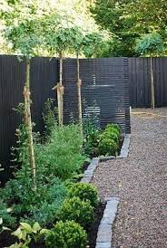 Black Fences Look Good They Make The Green Come Out So Beautifully I Wonder About A Grim Grey Day Though Which Landscape Design Garden Fence Garden Design