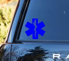 Emt Star Of Life Emt Emblem Emt Car Vinyl Decal Paramedic Decal Paramedic Cross Life Paramedic Wife Decal Life Car Decals Vinyl Emt Paramedics Wife