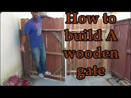 Learn How To Build A Wooden Gate That Doesn T Sag You Ll Love It Youtube