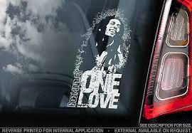 Bob Marley Car Window Sticker One Love Reggae Ska Music Sign Decal Wailers Ebay