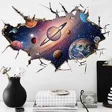 Kaimao Wall Decal 3d Mural A Corner Of Star Universe Removable Wall Stickers For Wall And Ceiling Home Decor Wall Stickers Murals Olivia Decor Decor For Your Home And Office