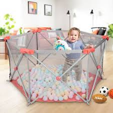 Kids Baby Playpen Fence Safety Play Center Yard Space Portable Home In Outdoor Ebay