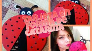 Tarjeta Catarina Mariquita Tarjetas Faciles Yaniiz Villalu Youtube