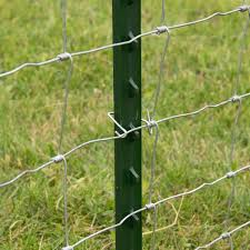Everbilt 1 3 4 In X 3 1 2 In X 6 Ft Green Steel Fence T Post 901176eb The Home Depot