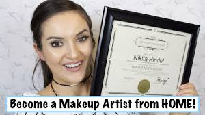 become a makeup artist from home you
